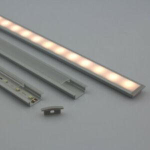 1Meter LED Aluminium Profile Channel With Flange For Recessed Mounted 10PCS/Lot