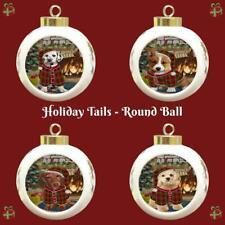 Christmas Stocking Hung Dog Cat Round Ball Christmas Tree Ornament