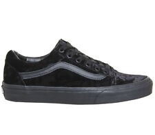 VANS Old Skool (Velvet) Black/Black Skate Shoe Men's Size 8.5