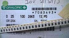 Mulinello parziale 4300pcs draloric D25 1206 24.3K 1% 0.25 W fisso Film Resistori Chip