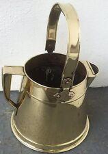 Grandi Ottone Antico acqua/Latte Brocca con Rivetti di rame & Handle di rotazione