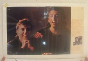 Tears For Fears Poster Trade Ad Songs From The Big Chair Tour Dates