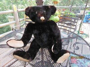 """ANTIQUE VTG MINK  FULLY JOINTED TEDDY BEAR 28"""" HAND MADE WONDERFUL!"""