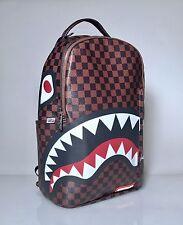 Sprayground Sharks In Paris Backpack 9100B873NSZ Checker Brown Bag