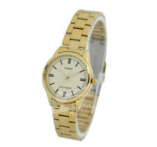 -Casio LTPV005G-9A Ladies' Analog Metal Watch New & 100% Authentic