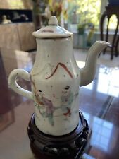 Chinese Antique Late Qing Famille Rose Figurian Small Pot