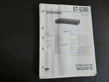 Original Service Manual SONY ST-S390