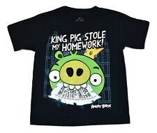 Angry Birds Little Boys King Pig Stole My Homework Shirt New Size 4-5