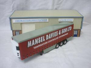 Corgi Roadscene Modern 1:76th Truck Mansel Davies Fridge Curtainside Trailer