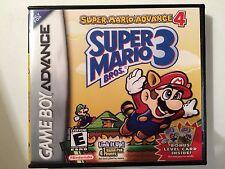 Super Mario Advance 4 - Super Mario Bros 3 - GBA - Replacement Case - No Game