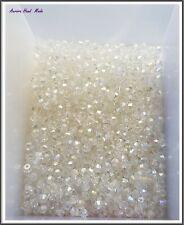 Swarovski 4 mm Bicone Crystal Bead - AB Clear