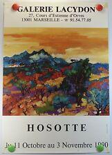 Affiche Art 1990 Galerie Lacydon Marseille exposition HOSOTTE /4PB