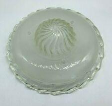 Antique Vtg Clear 3 Hole Art Deco Glass Ceiling Light Lamp Shade Chandelier