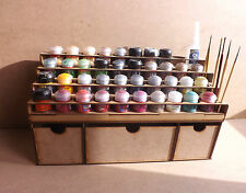 Paint Stand 40 pot rack Deep storage drawers Workshop Warhammer Wargame paint GW