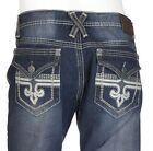 Xtreme Couture AFFLICTION Men Denim Jeans GEO FLAP FLEUR Dark Blue BKE 30-40 $79