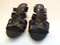 New Black Aerosoles Protector Women's Open Heel Sandals Size 6 1/2 M