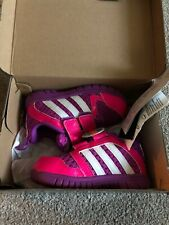 Adidas STA Fluid 3 CF I Toddler Baby Girls Pink Purple Trainers 5.5 Infant
