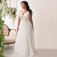 Chiffon Brautkleid Hochzeitskleid Kleid für Braut Mode Mollige weiß ivory BC452