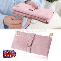 UK Fashion Pink Women Leather Clutch Wallet Long Card Holder Case Purse Handbag