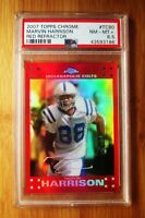 2007 Topps Chrome Red Refractor #80 MARVIN HARRISON Colts PSA 8.5
