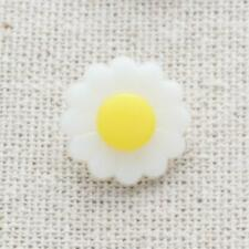 10 x White & Yellow Daisy Shank Buttons Size 15mm Craft Sewing N10
