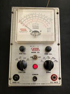 Vintage EICO Model 221 Electronic Voltmeter Ohmmeter