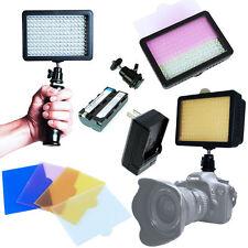 Best 160 LED Studio Video Light Set for Canon Nikon DSLR Camera DV Camcorder