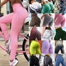 Women Scrunch Anti Cellulite Push Up Leggings Yoga Pants Sports Scrunch Trousers
