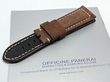 COFFEE Panerai Leather Watch Strap, watch band 24mm - Leather and Material
