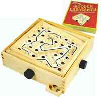 Labyrinth Puzzle Board Game Children Educational Maze Wooden Kids Ball Race
