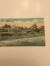 Antique 1900's Postcard Beach Bath House Long Beach Ca Real Photo Postcard Rare