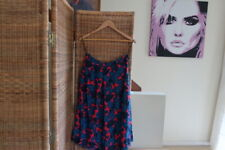 Monsoon Skirt Flared Teal Blue & Red Size 12