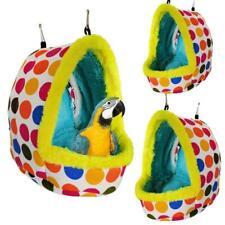 Sleep Bird Hut Toy Cotton Nest Pet Hammock Hang Cave Bed Parrot Tent Cage Soft