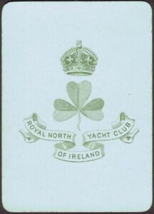 Playing Cards Single Card Old Antique Wide ROYAL NORTH IRELAND YACHT CLUB Art A