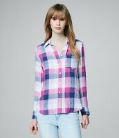 Aeropostale prince & fox women's button down plaid shirt