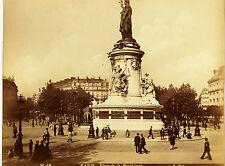 Original-photo, GR,. ca 1880, Francia, París, place de la Republique