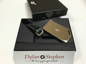 Montblanc Meisterstuck lifestyle accessories black leather luggage tag
