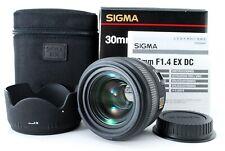 Sigma 30mm F/1.4 EX DC HSM Wide AF Prime Lens Canon w/ Box [N Mint] Japan 840540