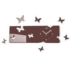 Modern Brown Large DIY Wall Clock Home Decoration Living Room Bedroom Kitchen
