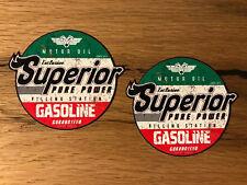 2x Gasoline Öl Aufkleber Chopper Skull Rockabilly Oldschool Retro vintage #019