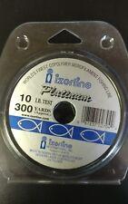 Izorline Platinum Co-Polymer Monofilament Line 10 lb/300 yd CLEAR. SAVE! QUALITY