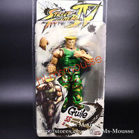 """Street Fighter IV Guile 7"""" Action Figure NECA Series2 Player Select New In Box"""