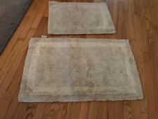 Beautiful chenille gold reversible bathroom rugs set of 2
