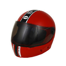 MP Full Face Red Chrome Motorcycle Scooter Helmet for Gents/Boys With ISI Mark