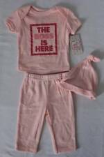 NEW Baby Girls 3 pc Layette Set 3 - 6 Months Shirt Pants Hat Outfit Boss is Here