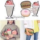 3D Delicious Hamburger Doughnut Coin Bag Wallet Mini Purse Zipper Pocket Clutch
