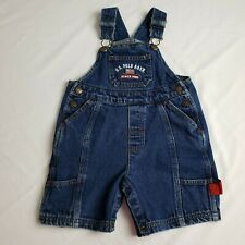 US Polo Assn Bib Overalls 24 Months Toddler Jean Shorts American Flag Dark Blue