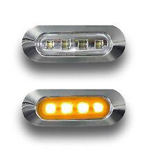 2 x 12V Feux LED Orange contour de phare chromé pour CAMION REMORQUE CARAVANE