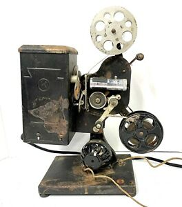 Antique KEYSTONE Moviegraph Projector With Film Movie Working! 1919 patent