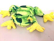 "Kellytoy Frog Plush Stuffed Animal Green Sparkle Glitter Eyes 10"""